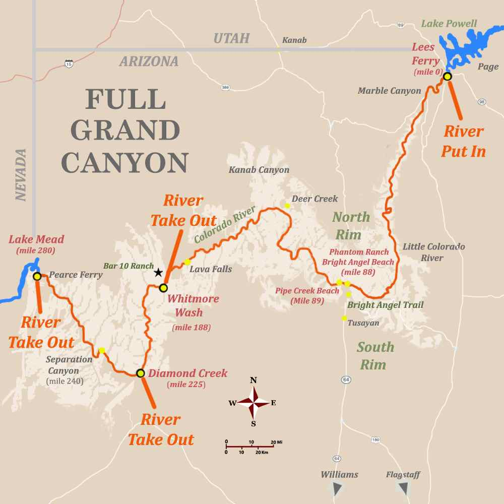 map grand canyon west rim Top Grand Canyon Locations You Must Visit Advantage map grand canyon west rim