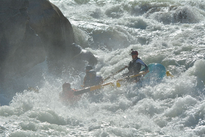 Whitewater rapids rafting